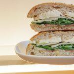 prosciutto brie pear sandwich